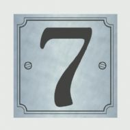 Classic Designs House Number Silver - No 7